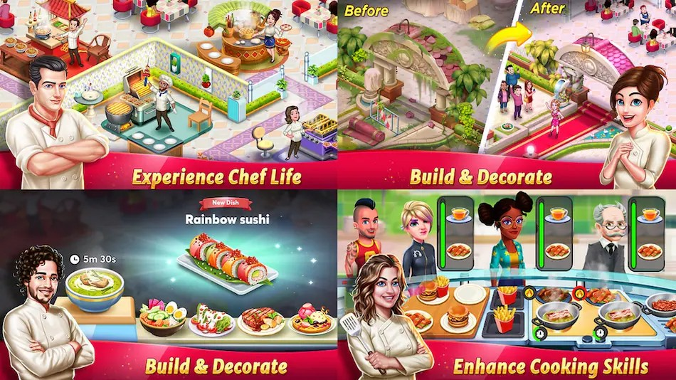 Cooking game: A platform for arising chef community